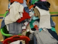 Kleiderberge zum Sortieren